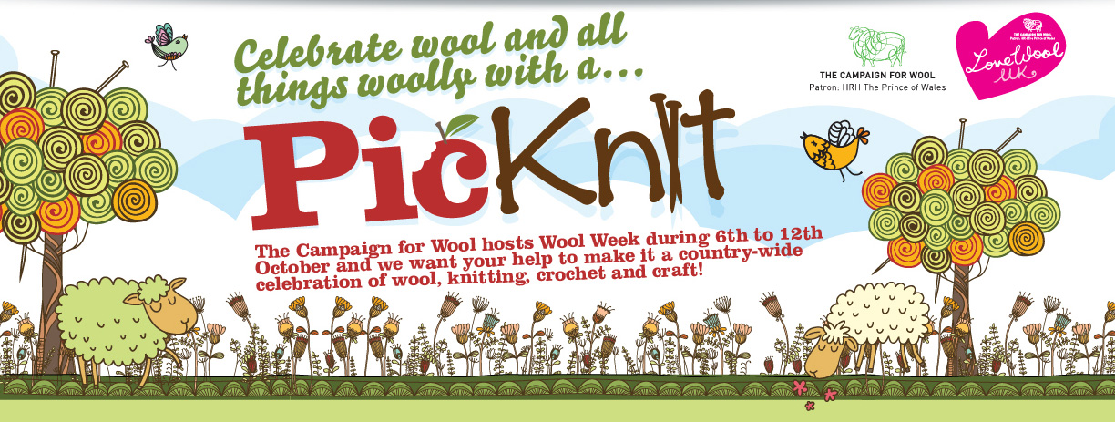 Celebrate wool and all things wooly with a pic knit.