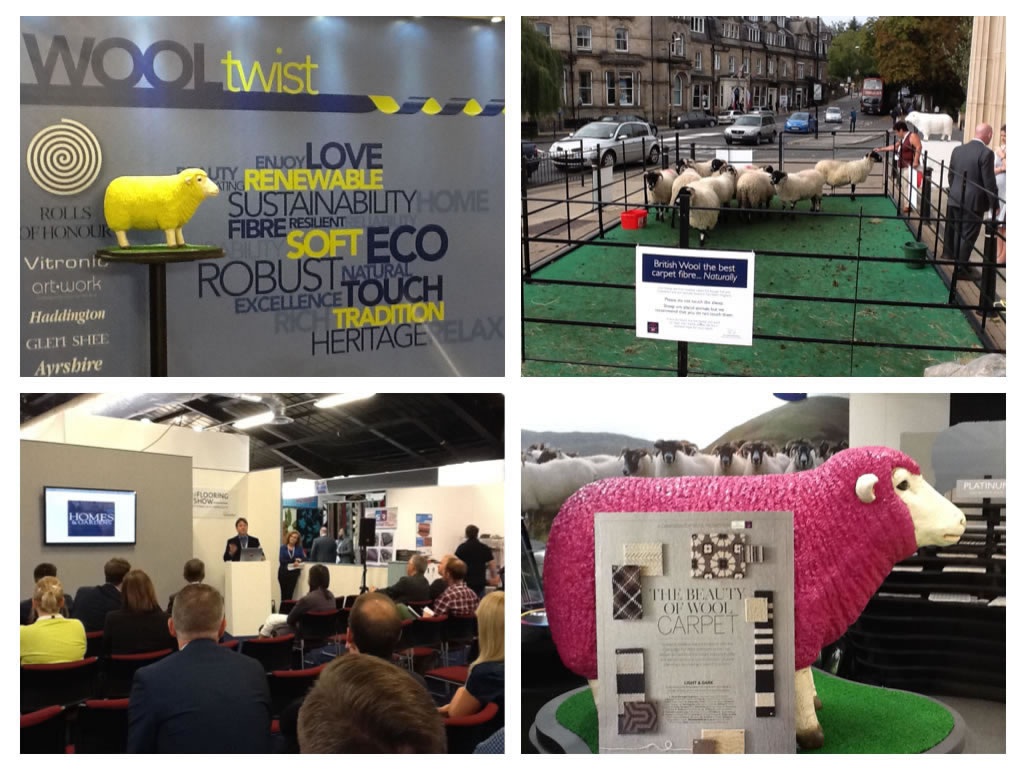Campaign for Wool at the Flooring Trade Show Harrogate