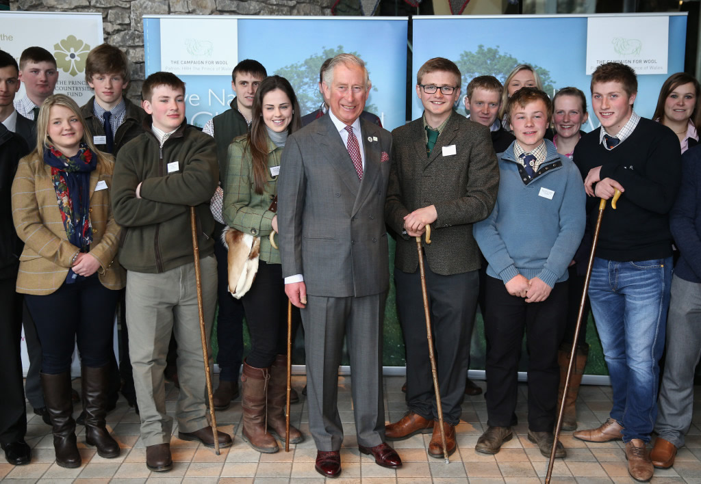 The Prince of Wales meets the Young Farmers  of Cumbria