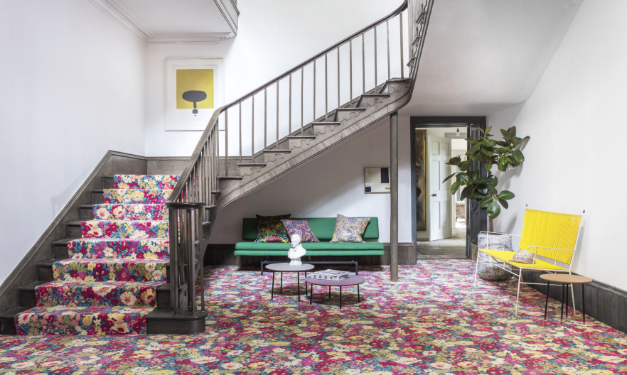 Alternative Flooring with Liberty Fabrics Flowers of Thorpe Summer Garden Lifestyle