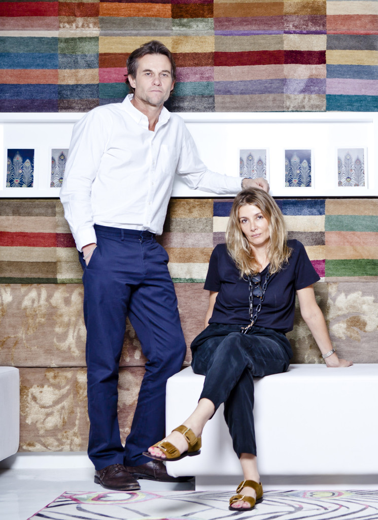 Matthew Williamson, Rug Company team, portrait, feature, interview, Rug Company, DIFC, Harpers Bazaar Interiors
