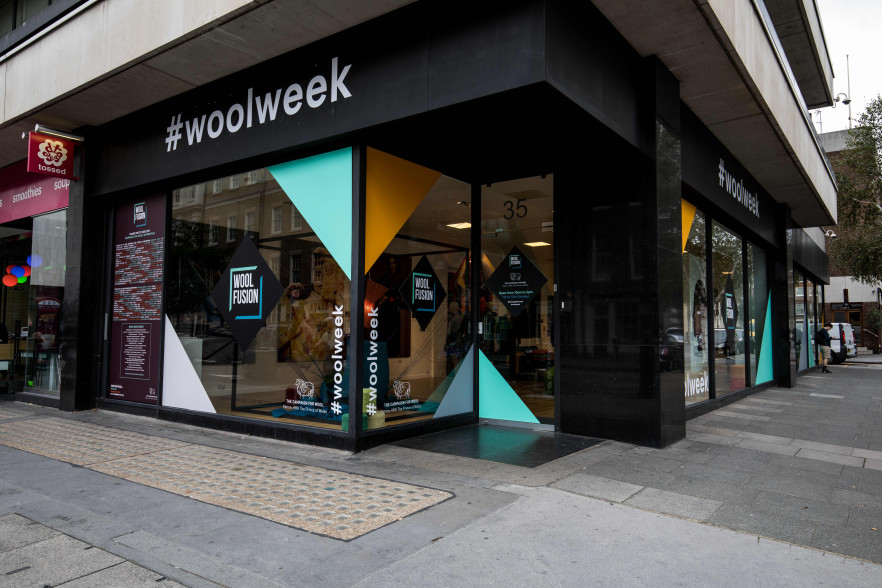 General view of the exhibition space for Wool Fusion / Wool Week PRESS ASSOCIATION Photo. Picture date: Monday October 09, 2017. Photo credit should read: Steven Paston/PA Wire.