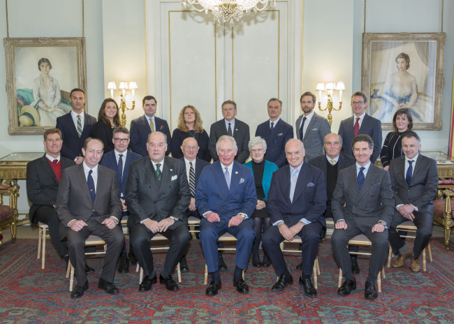 LONDON - UK - 13th Feb 2018. HRH The Prince of Wales hosts the Campaign for Wool Council meeting at Clarence House in London. Photograph by Ian Jones